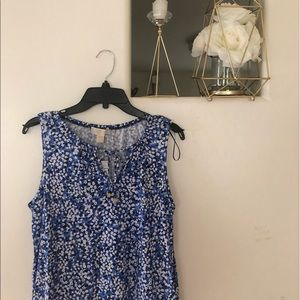 NWT Michael Kors Tank Top Blue Floral